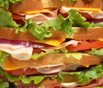 Close up of a sandwich