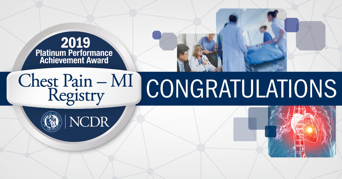 2019 Platinum Performance Achievement Award, Chest Pain - MI Registry