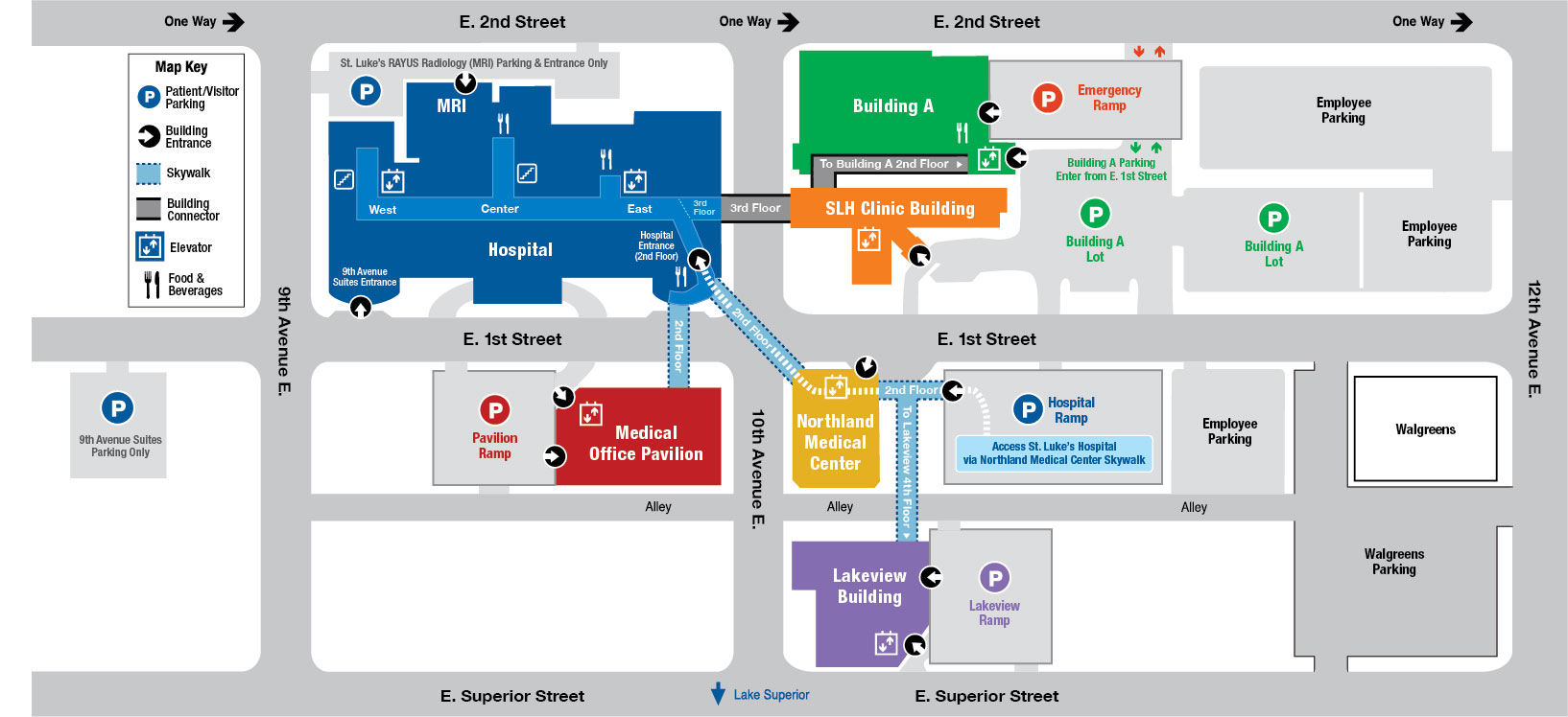 Campus Map | St. Luke's on us physical therapy map, us pokemon map, us fallout map,